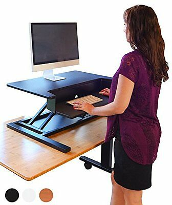 Stand Up Desk Store AirRise Pro - Height Adjustable Standing Desk Converter, ...