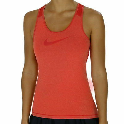 Nike Womens Pro Cool Tank Top Fitness Vest Running Gym Orange Size XS Small NEW
