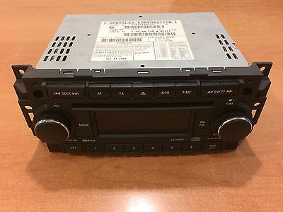 Genuine Chrysler 300C Le Jeep Grand Cherokee Wh Radio Cd Player 05064067Af Reg