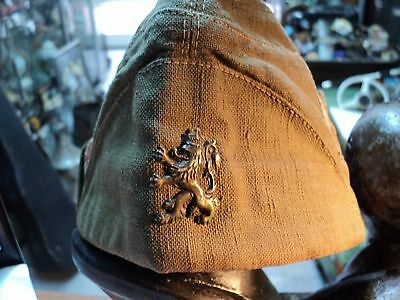 Antique Wwii Royal Bulgarian Hat Cap With Badge Lion - Combat Type Rare!!!