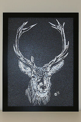 "Textured Picture by Hoshi Dee ""Deer"""