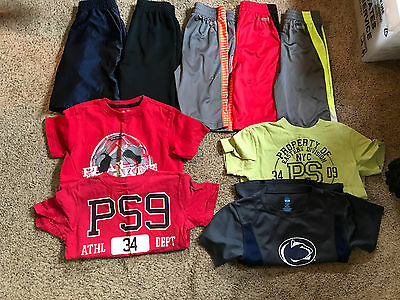 Lot of 9 Pc Boys Size 6 7 Athletic Shorts Shirts Aeropostle Summer Clothes ON