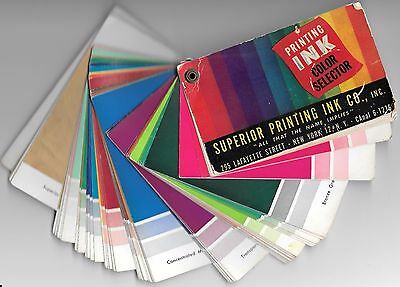 Vintage Printing Ink Color Selector Book