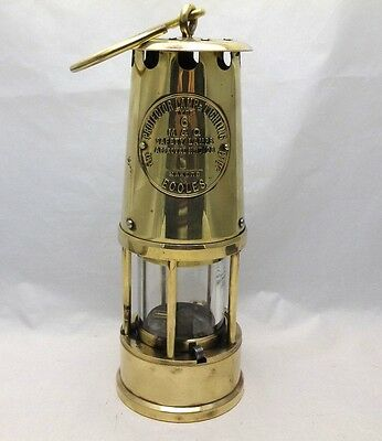 Genuine All Brass Deputies Miners Davy Safety Lamp The Protector Lamp Type 6 M&Q