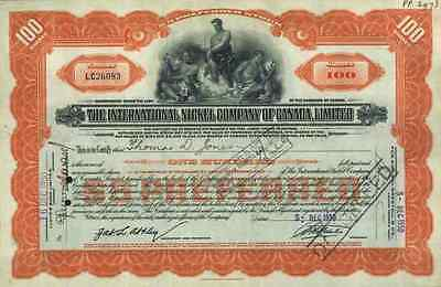 International Nickel Company of Canada 1930 Sudbury Ontario Toronto VALE Inco