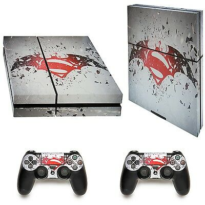 Playstation 4 PS4 Superman Protective Vinyl Decal Skin Sticker Cover Console 2x