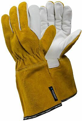 TEGERA 8 Heat Resistant Tig Mig Leather Welding Work Gloves Medium Weight M XL