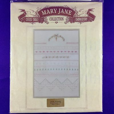 "Vintage Counted Thread Embroidery Kit ""Pastel Romance"" by Mary Jane Collection"