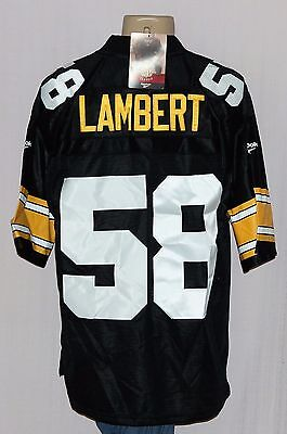 Jack Lambert Pittsburgh Steelers Reebok Sewn Throwback Jersey M - Nfl 0342f3185