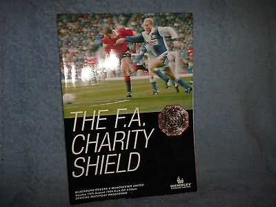 1994 Charity Shield Blackburn V Manchester United Football Programme