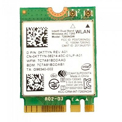 Intel Dual band Wireless-AC 7260 7260NGW BN BT4.0 NGFF 433Mbps Wifi Card KTTYN