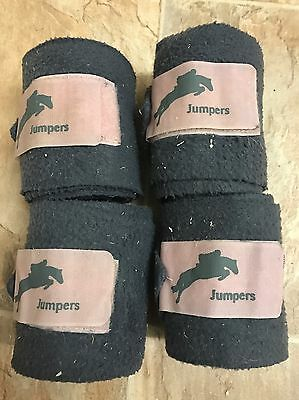 Jumpers Horse Line Fleece Polo Bandages Grey/pink