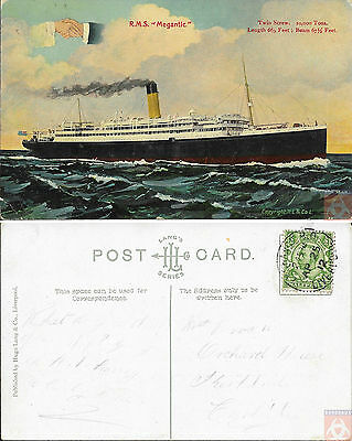 Angleterre - PAQUEBOT - MEGANTIC - Posted 1912 - Liverpool EXCHANGE P.O.