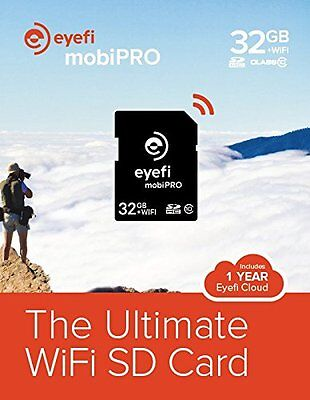 Eye-Fi Mobi PRO 32GB WiFi SDHC Card + Free 1 Year Eyefi Cloud Wireless