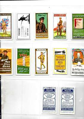 Wills Recruiting Posters   Full Mint  Repro  By Victoria Gallery Sleeved