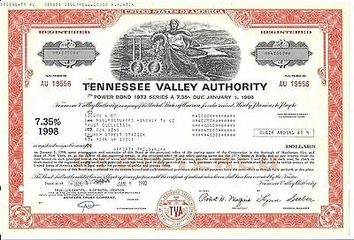 Tennessee Valley Authority.......power Bond 1973 Series A