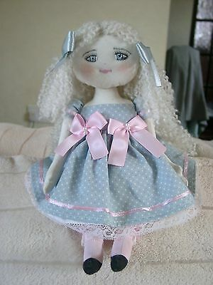 Lovely & Very Pretty Ooak Handmade Cloth/rag Doll-In Bag-By Couture Dolls New