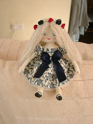 Lovely Handmade Ooak( 1 Of A Kind)Cloth/rag Doll-In Bag-By Couture Dolls-N.w.o.t