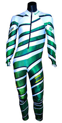 SYNC NASTAR Giant Slalom Race Suit - Green/White - SM