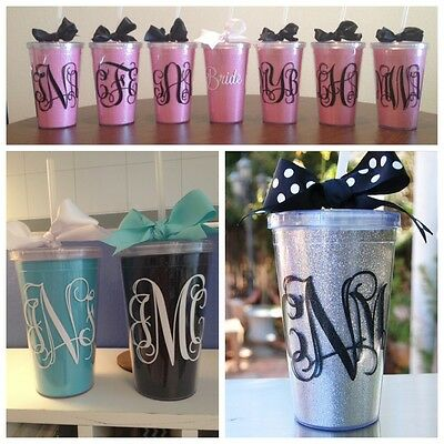 Monogrammed Tumbler with changeable inserts