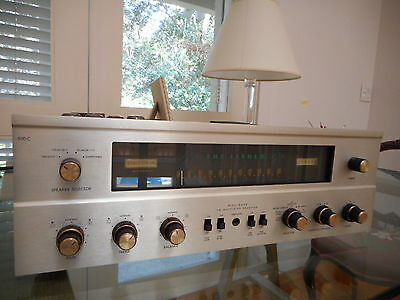Vintage Fisher 500-C Tube Stereo  Amp & Fm  Receiver Restored, New Pwr Tubes