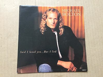"Michael Bolton - Love Is a Wonderful Thing/Soul Provider 2 Track Vinyl 7"" Single"