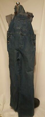 Old Navy Maternity Blue Coverall Bibs Pants Small S Denim Cotton
