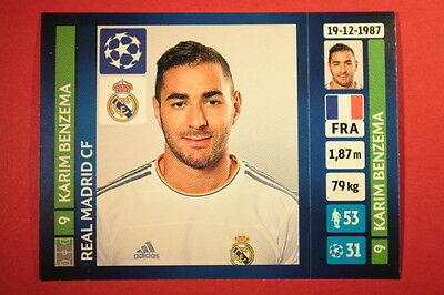 PANINI CHAMPIONS LEAGUE 2013//14 N 91 BENZEMA REAL MADRID BLACK BACK MINT!