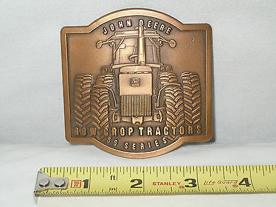 John Deere 55 Series Row Crop Tractors Brass Belt Buckle   Mint Condition