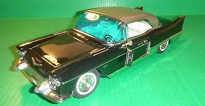 "MARUSAN Tin Friction 1957 Cadillac Eldorado 15"" BLACK With Original Box"