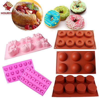 20 Styles Muffin Silicone Bakeware Cupcake Bread Cake Pan Flat Mould Assorted