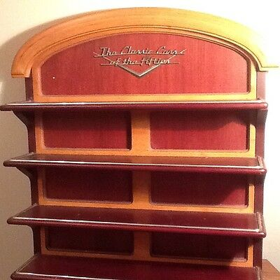 Franklin Mint Cars Of The Fifties Wood Stand