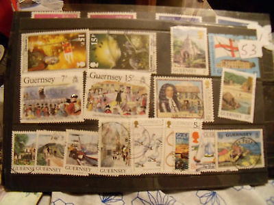 guernsey  stamps.  lot  53