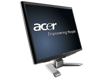 ACER 22 - P223W LCD 1680 x 1050 MONITOR VGA inputs,USED