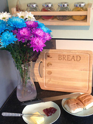 NEW Wooden Bread Board | Kitchen item | Cute Images Engraved onto Chopping Board