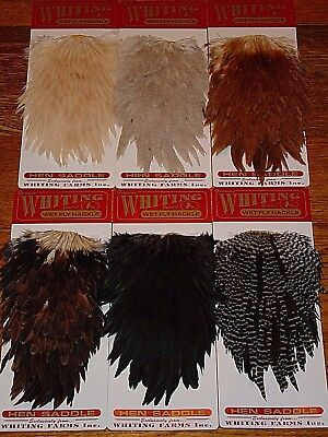 Whiting Farms Hen Saddles Fly Tying Feathers