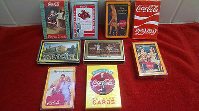 Coca-Cola Playing Cards - (9 Decks) - Factory Sealed-New Old Stock1980's-90's
