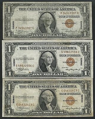 Fr2300 $1 1935A (5) Diff Hawaii Wwii Emergency Notes Issued Bt6107