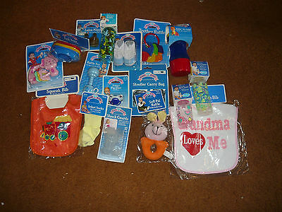 Lot Of 10 Baby King Acessories Bottles, Bibs, Toys,pacifiers & More