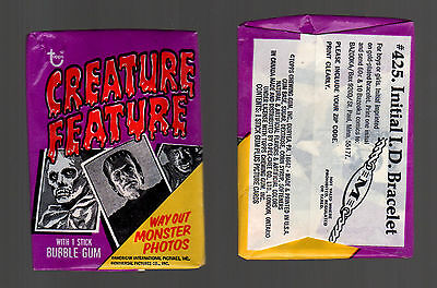 1973 Topps Creature Feature Sealed Wax Pack-2 Cards
