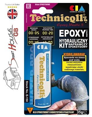 Technicqll Plumbing Epoxy Instant Putty Cold Weld Leaks Radiator Pipes Rapid