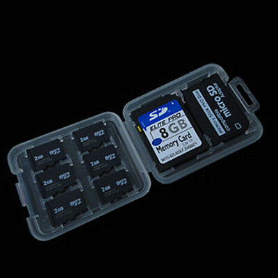 Hot 8 Slots Micro SD TF SDHC MSPD Memory Card Protecter Box Storage Case Holder