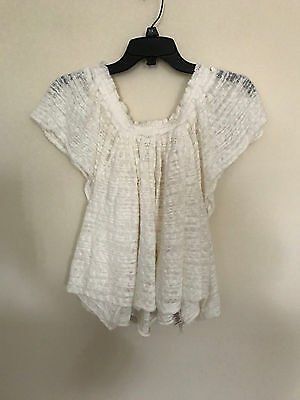 281edb0144c FREE PEOPLE THRILLS And Frills Top Women's Size XS Flutter Sleeve ...