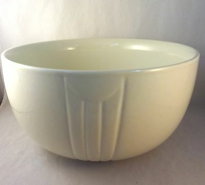 """HALL IVORY 8 3/4"""" RADIANCE MIXING BOWL Rayed Cream Off White Unmarked"""