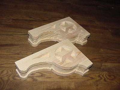 "PAIR of Mission Style ""Lone Star"" Wood Corbels.. 7-1/2 x 12"