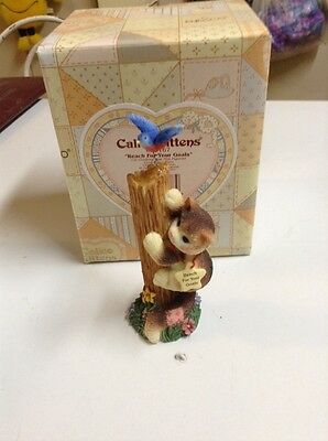 """Calico Kittens """"reach For Your Goals"""" New In Box"""