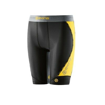 Skins Dnamic Youth Half Tights (Black/Citron) + Free AUS Delivery!