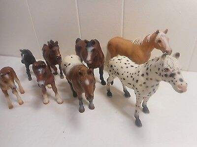 Lot Of 8 Schleich Horses Ponies Germany