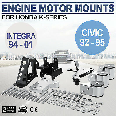 MOTOR ENGINE MOUNT KIT FOR HONDA CIVIC 92-95 INTEGRA 94-01 Amazing SWAP BILLET