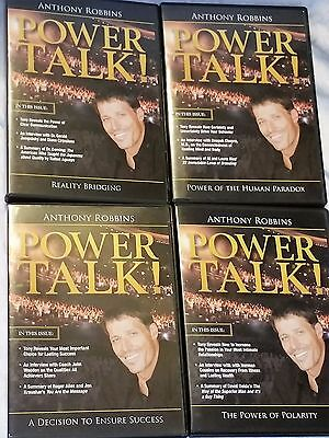 Lot of 4 Anthony Robbins POWER TALK CD Sets - 10 CDs In All John Wooden, Cousins
